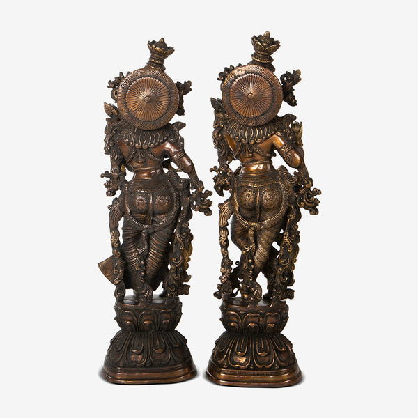 Brass Radha Krishna in Antique Finish