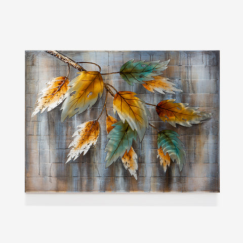 Metallic Leaves Art