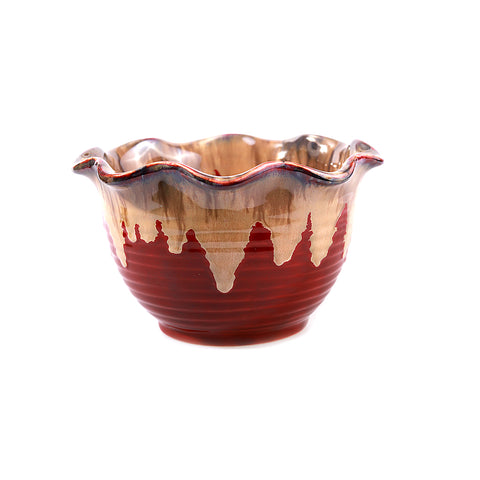 Kapila Red & Blue Waves Bowl