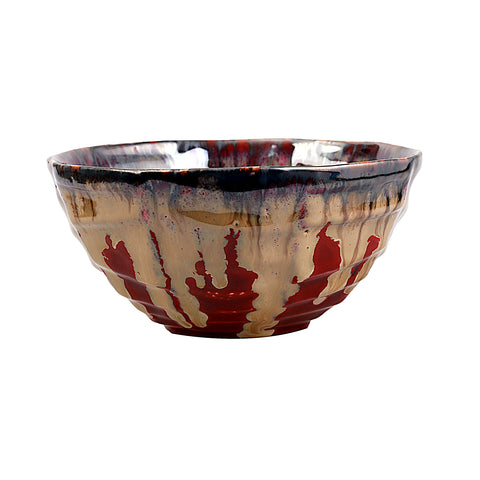 Kapila Red & Blue Textured Bowl