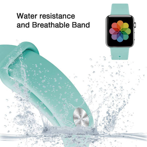 Silicone Sport Replacement Watch Band Strap for Apple Watch Series