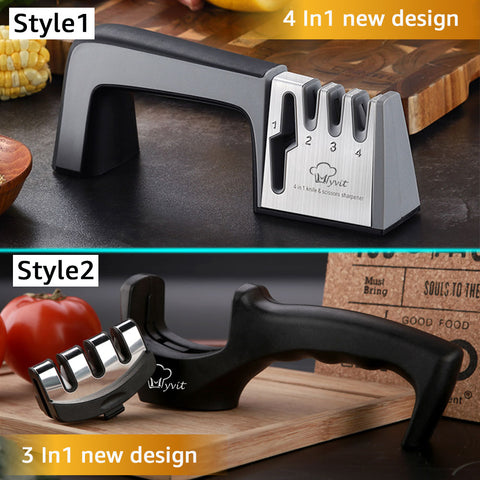 Stainless Steel 4 in 1 Knife and Scissors Sharpener