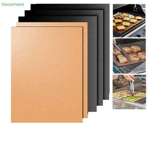 2-Pack Reusable Nonstick BBQ Grill Mat