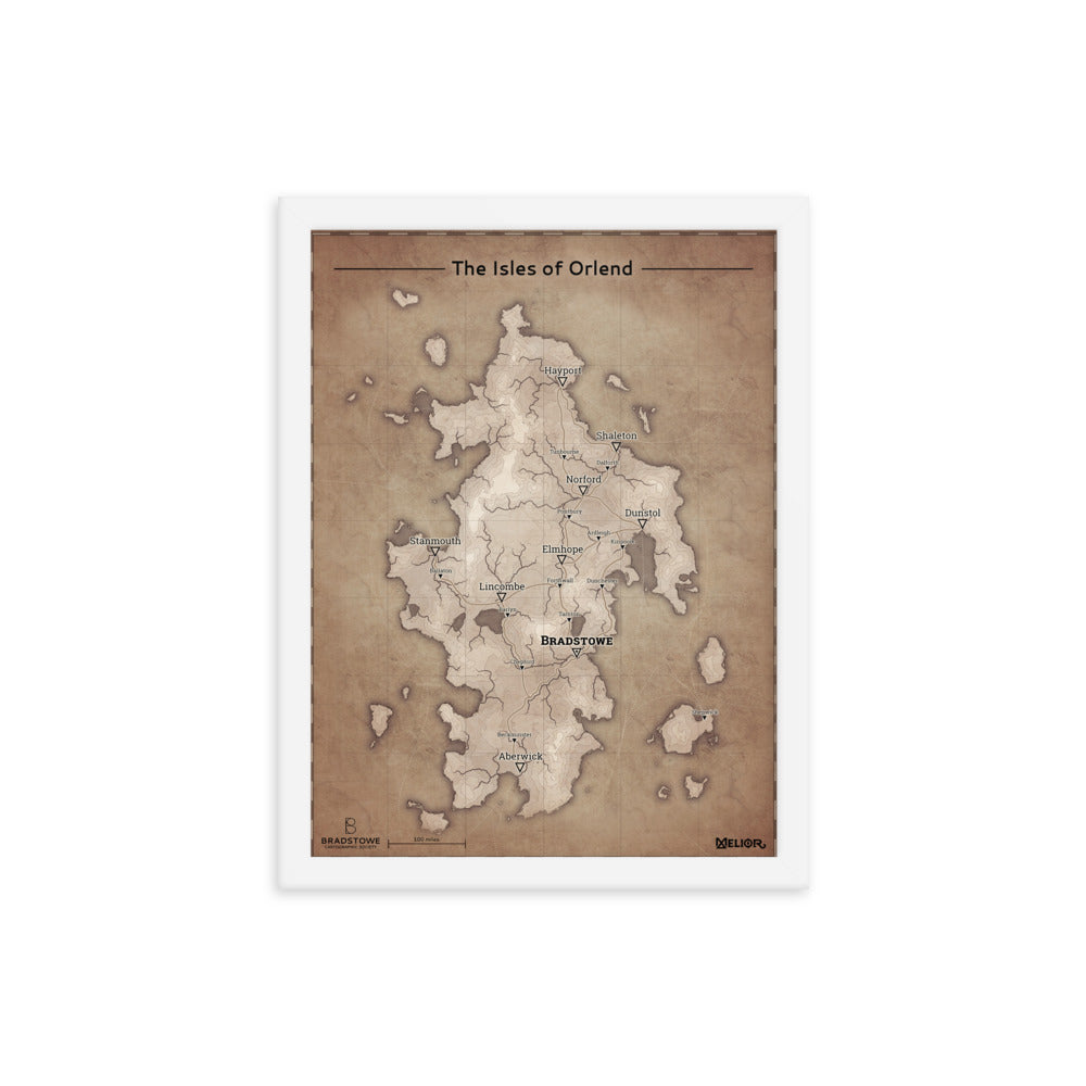 The Isles of Orlend Framed poster