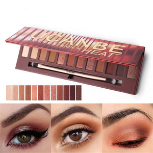 12 Colors Eyeshadow Palette Matte Glitter Eye Shadow Nude Natural Glow Smoky Makeup Set