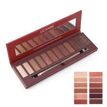 Load image into Gallery viewer, 12 Colors Eyeshadow Palette Matte Glitter Eye Shadow Nude Natural Glow Smoky Makeup Set