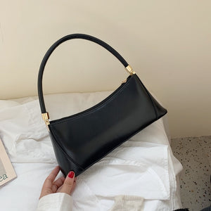 Solid Color PU Leather Handbags For Women 2020 Shoulder Bag Female Small Elegant Totes Lady Handbag Luxury Hand Bag