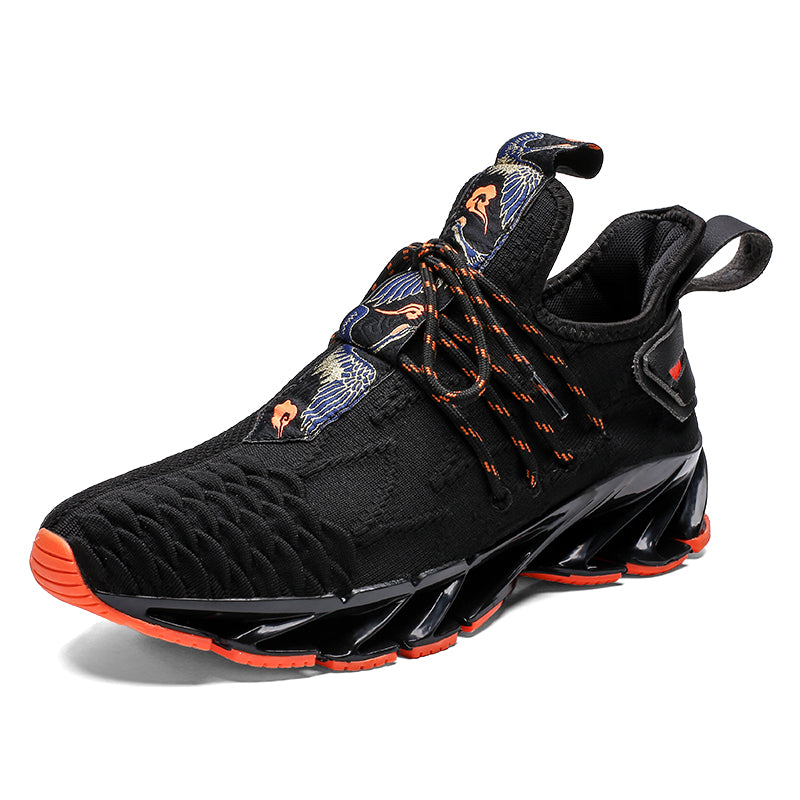 YSOKRAJ Brand Men's Sport Running Shoes 2020 Lace-up Exercise Sneakers Breathable Mesh Letter Shoes Size 39-46 Sneakers for Men