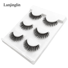 Load image into Gallery viewer, New 3 pairs natural false eyelashes fake lashes long makeup 3d mink lashes extension eyelash mink eyelashes for beauty #X11