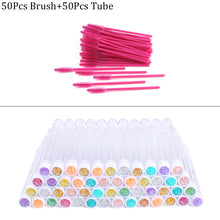 Load image into Gallery viewer, Reusable eyebrow brush tube disposable eyelash brush eyebrow brush replaceable dust-proof Sparkling broken diamond at bottom