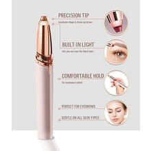 Load image into Gallery viewer, Mini Electric Eyebrow Trimmer Makeup Painless Eye Brow Epilator for Women  Shaver Razors Portable Facial Hair Remover