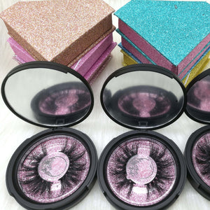 INICE lashes vendor 27mm 25mm 6D mink false eyelashes 5D Mink lashes with custom cases logo