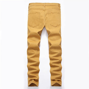 2019 High Quality low MOQ wholesale spring Wear Tights Skinny Design men patched Jeans