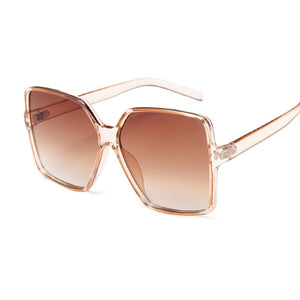 Square Oversized Sunglasses Women Big Frame Colorful Sun Glasses Female Mirror Oculos Unisex Gradient Hip Hop Shades