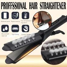 Load image into Gallery viewer, Hair Straightener Four-gear temperature adjustment Ceramic Tourmaline Ionic Flat Iron Hair Straightener For Women Widen panel