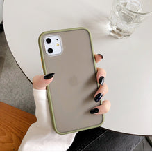 Load image into Gallery viewer, Mint Hybrid Simple Matte Bumper Phone Case For iPhone 11 Pro Max XR XS Max 6S 8 7 Plus Shockproof Soft TPU Silicone Clear Cover