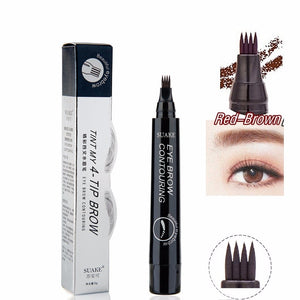 Hot Sale Sketch Liquid Eyebrow Pencil 3D Microblading Eyebrow Tattoo Pen Waterproof Natural Four-claw Eye Brow Tint Makeup TSLM1