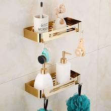 Load image into Gallery viewer, Bathroom Accessories Towel Rack,Paper holder Toilet Brush Holder,Towel Ranger,Hooks  Brass Material Gold Bath Hardware Sets