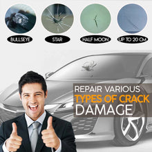 Load image into Gallery viewer, Automotive Glass Nano Repair Fluid Window Broken Glass Nano Repair Tool Set Black Magic Windshield Crack Chip Repair Tool Kit