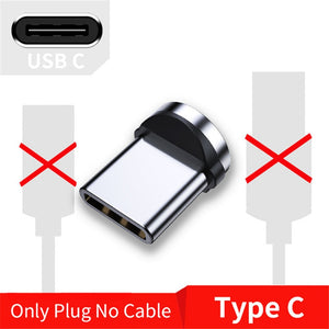 USLION 2M Fast Charging Magnetic Cable Micro USB Type C Charger For iPhone XS X 8 7 Samsung S10 9 Magnet Android Phone Cable 3M