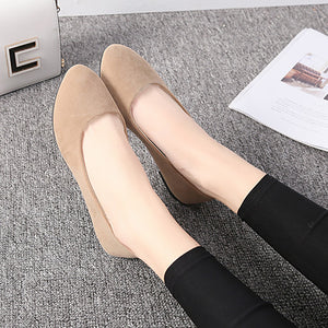 New 2020 New Spring Shoes Women Flats Top quality Flat Shoes  European Style  Loafers Round Toe Casual Shoes Plus Size 7-10