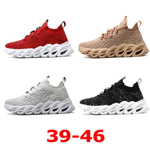 Breathable Socks Running Shoes 46 Light Men's Sports Shoes Large Size Comfortable Sneakers 45 Fashion Jogging Casual Shoes