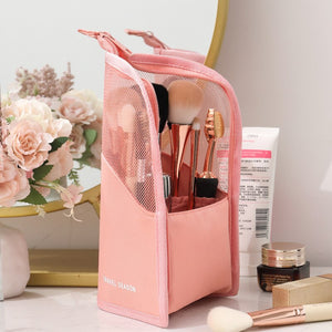 Best selling cosmetic storage bag makeup brush bucket storage tube net red mask lipstick eyebrow pencil portable storage bag