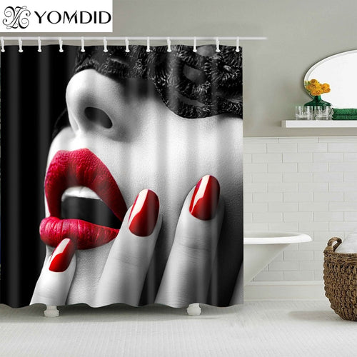 Waterproof Shower Curtains for Bathroom Home Decor 7 Color Available Polyester Fabric Shower Curtains Multi-size Shower Curtains