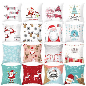 45X45CM Pillow Case Merry Christmas Decoration For Home 2019 Christmas Ornament Christmas Gift Cristmas Noel Happy New Year 2020