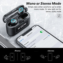 Load image into Gallery viewer, Wireless Bluetooth Earphone with Microphone Sports Waterproof Wireless Headphones Headsets Touch Control Music Earbuds For Phone