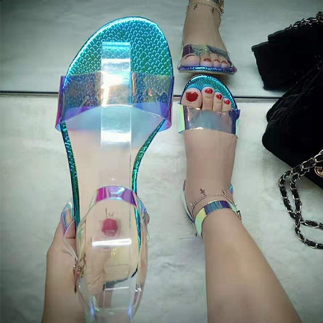 Wholesale Summer Jelly New Design Latest Ladies Fashion Flat Beach Woman Shoe Sandal
