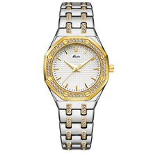 Load image into Gallery viewer, New MISSFOX 18K Gold Women Watches Top Luxury Brand Waterproof Quartz Ladies Wrist Watches Lab Diamond Fashion Female Clock Hour