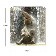 Load image into Gallery viewer, 3D Elephant Water Shower Curtain With Hooks For Bathroom Home Decoration Thickening Waterproof Polyester Curtains