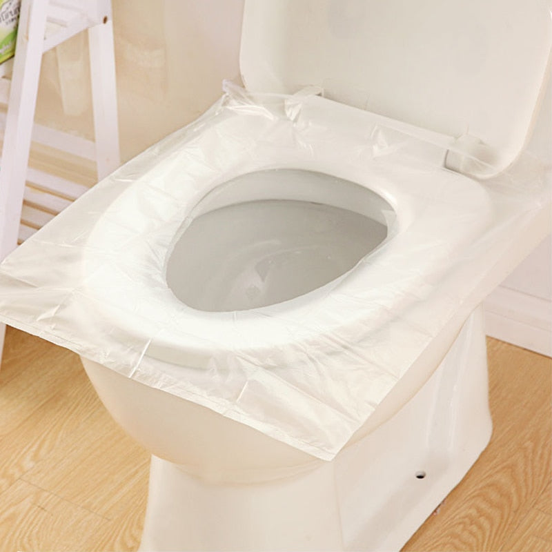 1 Bag 10 Pcs/lot Disposable Toilet Seat Cover Mat 100% Waterproof Toilet Paper Pad For Travel/Camping Bathroom Accessiories