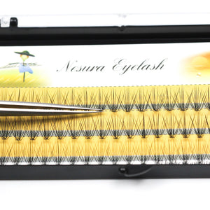 Grafting World Eyelash individual Eyelash  60 pcs 6mm to 15mm Deep Black Russia Volume cilia