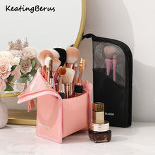 Load image into Gallery viewer, Best selling cosmetic storage bag makeup brush bucket storage tube net red mask lipstick eyebrow pencil portable storage bag