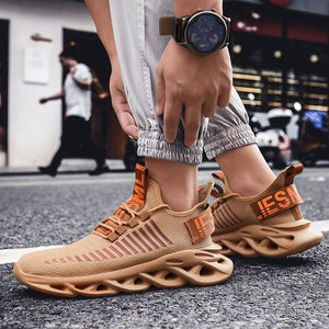 QGK Men Casual Shoes Blade Sneakers for Men Shoes Shockproof Breathable Male Sneakers Height Increase Shoes Tenis Masculino