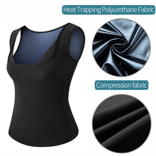 Load image into Gallery viewer, Women Sauna Sweat Vest Polymer Waist Trainer Weight Loss  Shapewear Tummy Slimming Sheath Workout Body Shaper Corset Fajas Top