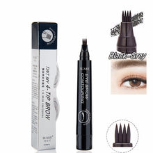 Load image into Gallery viewer, Hot Sale Sketch Liquid Eyebrow Pencil 3D Microblading Eyebrow Tattoo Pen Waterproof Natural Four-claw Eye Brow Tint Makeup TSLM1