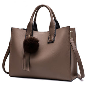 Latest design pu leather women hand work tote bags
