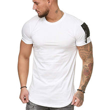 Load image into Gallery viewer, Blank Cotton Breathable Running T-Shirts Dry Fit Compression Training Wear Fitness Gym Men T Shirt