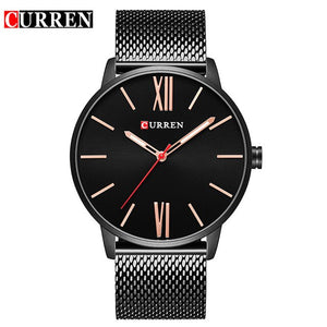 CURREN Luxury Brand Quartz Watch Men's Gold Casual Business Stainless Steel Mesh band Quartz-Watch Fashion Thin Clock male 8238