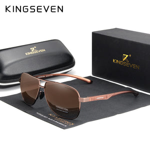 KINGSEVEN 2020 Brand Men Aluminum Sunglasses Polarized UV400 Mirror Male Sun Glasses Women For Men Oculos de sol