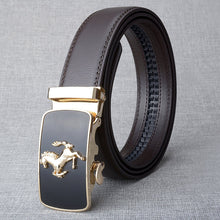 Load image into Gallery viewer, Hot Sell Brand Horse Designer Automatic Buckle Belt Men Genuine Leather Belt Man Luxury Men Belts Alloy Buckle Best As Gift