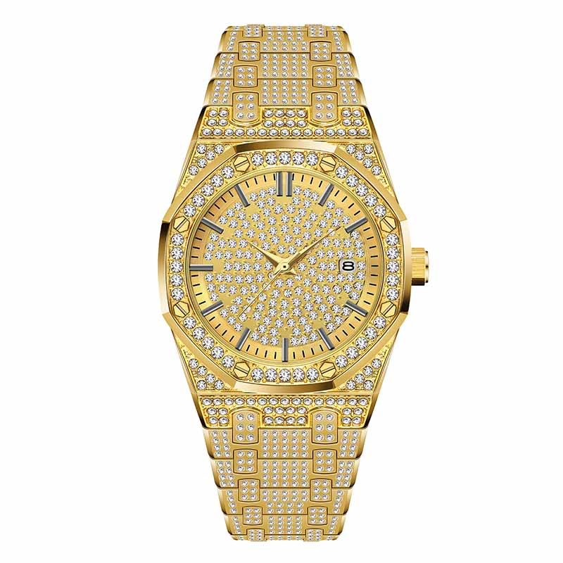 18K Gold Watch Men Luxury Brand Diamond Mens Watches Top Brand Luxury