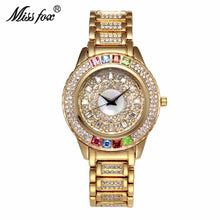 Load image into Gallery viewer, MISSFOX Ladies Gold Party Watches Women Diamond Fashion China Watches Luxury Brand Golden Clock For Ar Female Quartz Wristwatch
