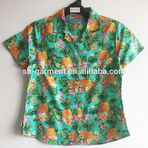 Ladies printed Hawaiian shirt-- 2018 new designs 047