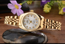 Load image into Gallery viewer, CHENXI Brand Top Luxury Ladies Gold Watch Women Golden Clock Female Women Dress Rhinestone Quartz Waterproof Watches Feminine