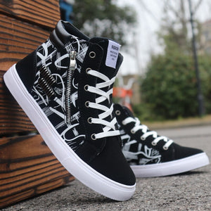 Men Casual Skateboarding Shoes High Top Sneakers Sports Shoes Men Outdoor Breathable Walking Shoes Street Shoes Chaussure Homme