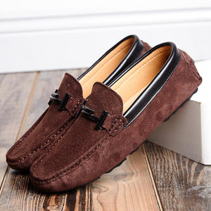 Rommedal  Summer Suede Leather Mens Loafers Luxury Brand Top Men's Casual Shoes Slip On Boat Shoes For Men Moccasins Chaussure